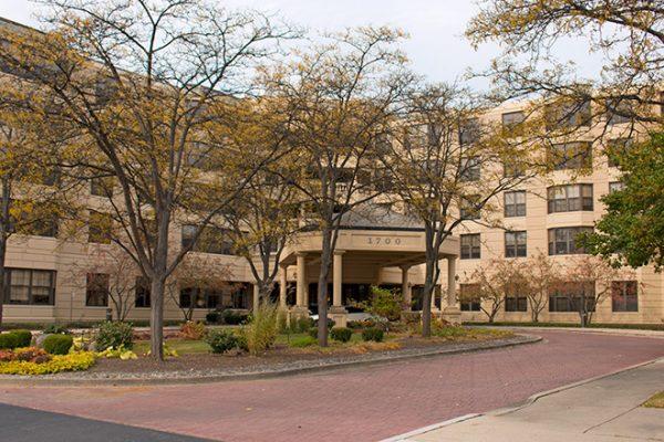 Brookdale Lisle Skilled Nursing building front and entrance