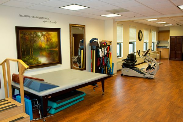 Brookdale Lisle Skilled Nursing physical therapy gym