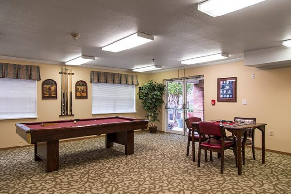 Brookdale Russellville billiards and card room