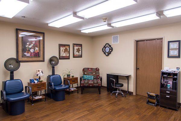 Salon and barber shop inside Brookdale Russellville