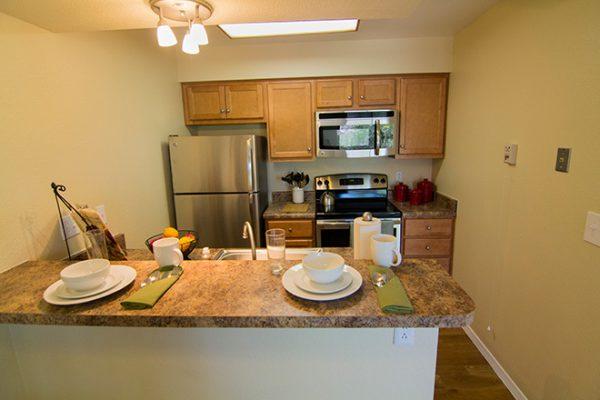 Brookdale Santa Catalina model apartment kitchen