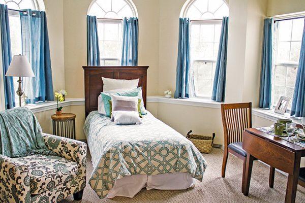 Brookdale South Windsor model residence bedroom