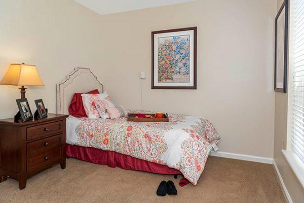 Brookdale West Hartford model home bedroom