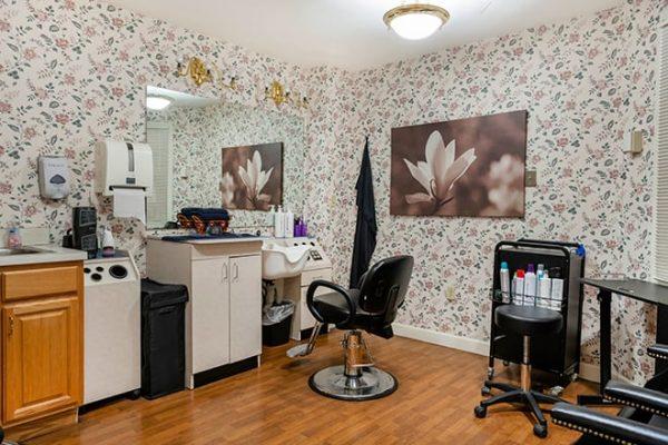 Brookdale West Hartford resident beauty parlor