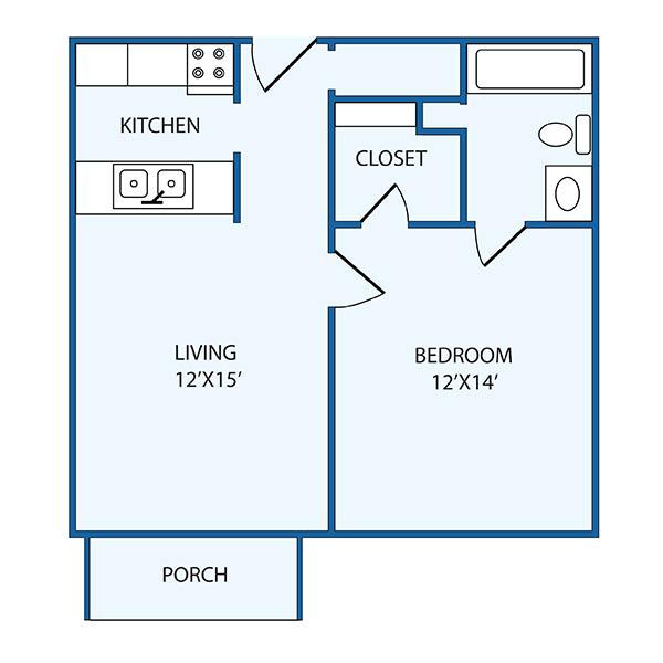 The Columbia Presbyterian Community AL deluxe floor plan