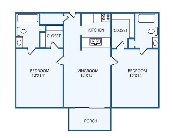 The Columbia Presbyterian Community deluxe floor plan