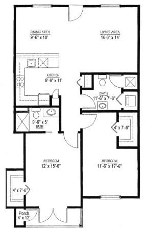 Homestead Village of Fairhope cottage apartment 1012 floor plan