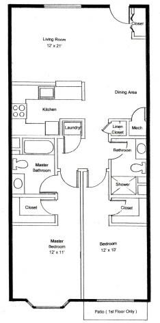Homestead Village of Fairhope cottage apartment 1040 floor plan