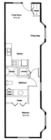 Homestead Village of Fairhope cottage apartment 592 floor plan