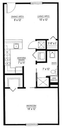 Homestead Village of Fairhope cottage apartment 711 floor plan
