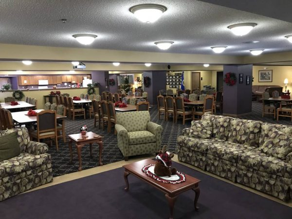 Community living room in The Crossings at Brookwood