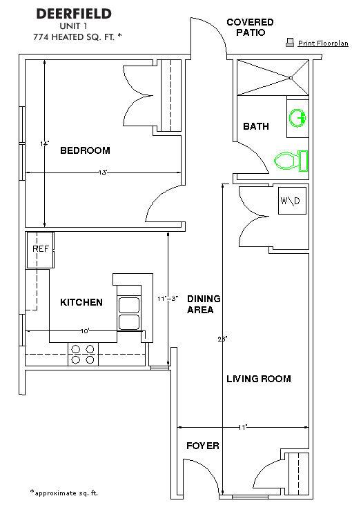 The Methodist Oaks deerfield floor plan