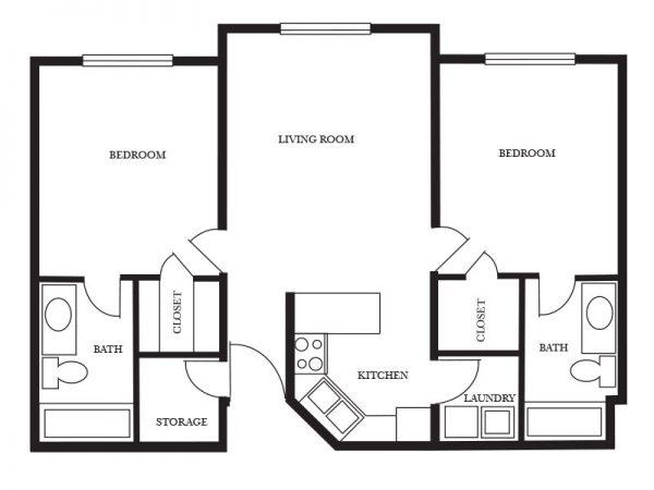 Regency Retirement Village - Birmingham Buckingham floor plan