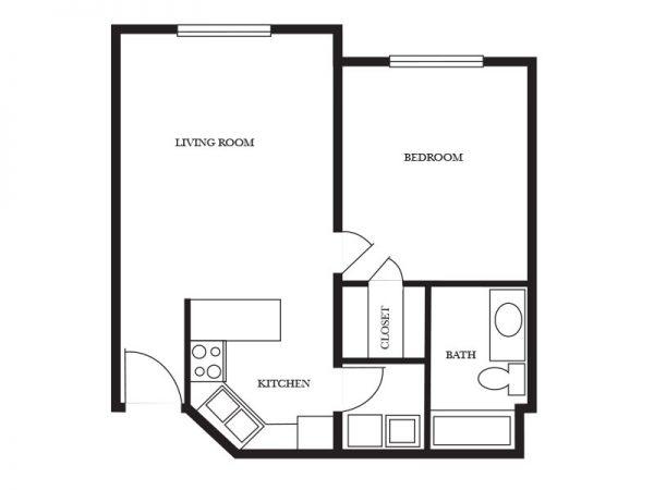 Regency Retirement Village - Birmingham Essex floor plan