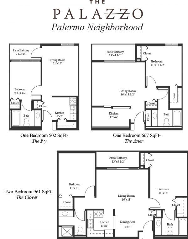 The Palazzo floor plan 1