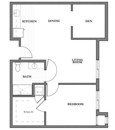 Mountain Park Senior Living floor plan 1