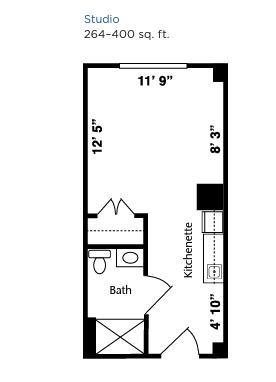 Brookdale West Hartford floor plan 1