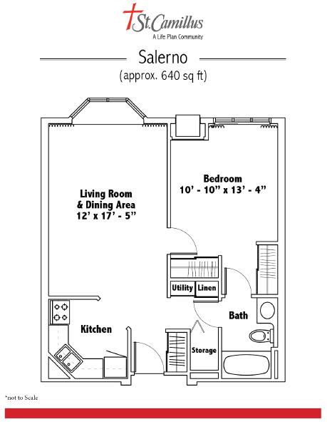 St. Camillus Independent Living floor plan 2