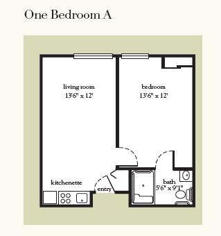 Atria Greenridge Place onde bedroom floor plan