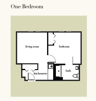 Atria Hamilton Heights one bedroom floor plan