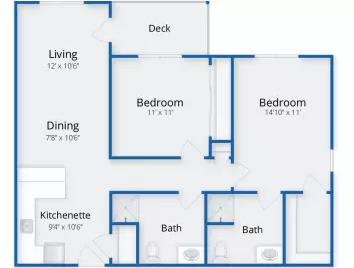 The Village at Kensington Place floor plan 2
