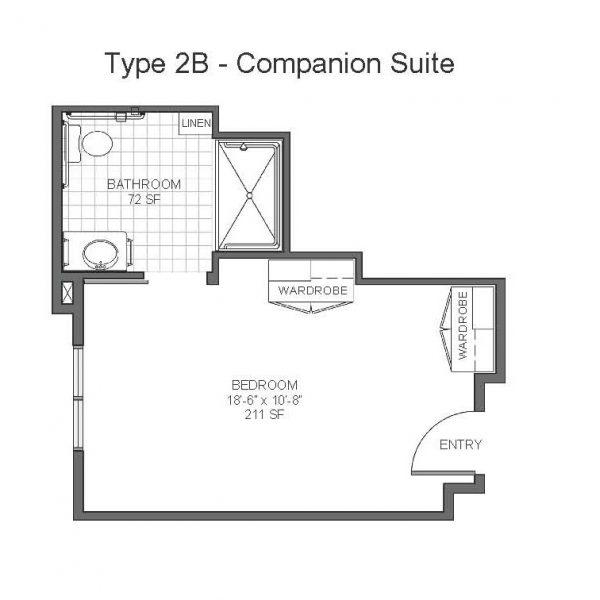 Catalina Springs Memory Care floor plan 3