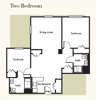 Atria Hamilton Heights two bedroom B floor plan
