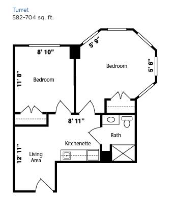 Brookdale West Hartford floor plan 4