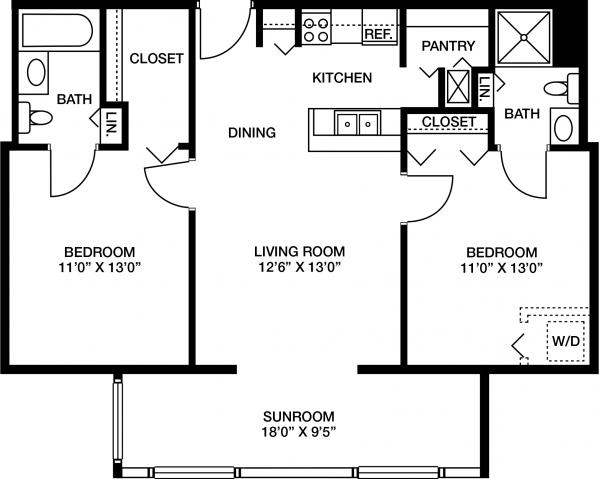 Westminster Village floor plan 4