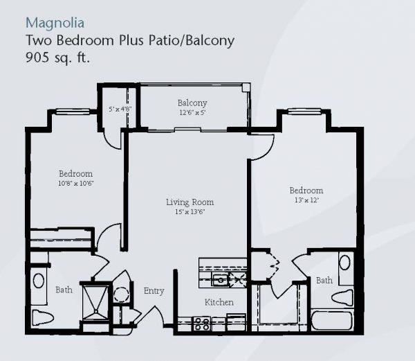 Brookdale Santa Catalina floor plan 5