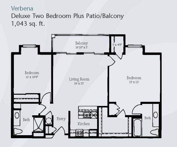 Brookdale Santa Catalina floor plan 6