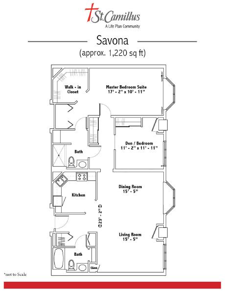 St. Camillus Independent Living floor plan 7