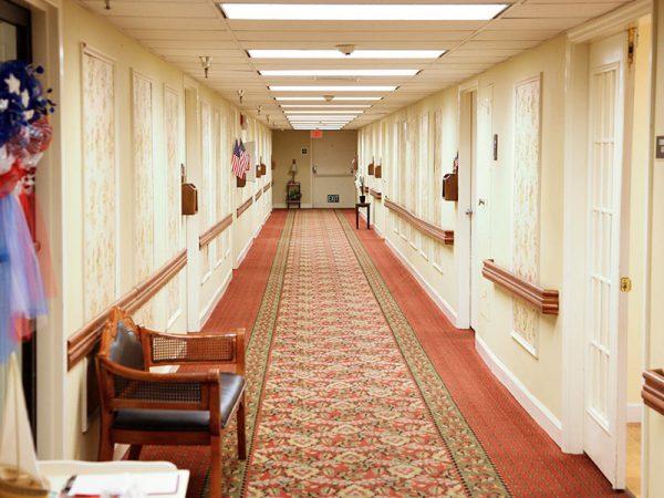 Interior hallways at Regency Retirement Village - Huntsville