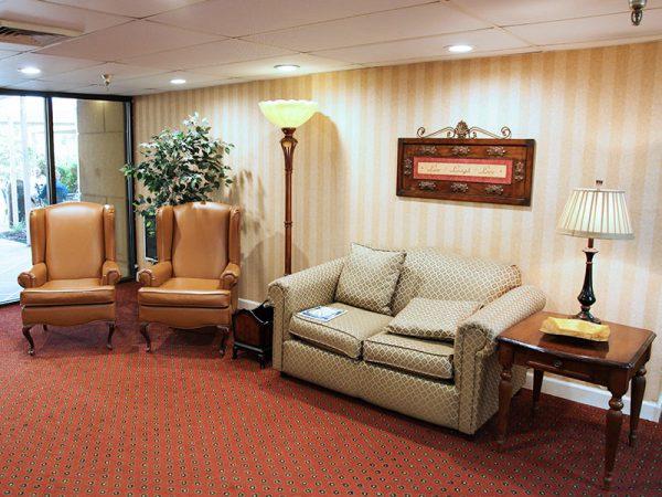 Living room and common area in Regency Retirement Village - Huntsville