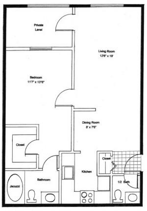 Homestead Village of Fairhope garden apartment 1000 floor plan