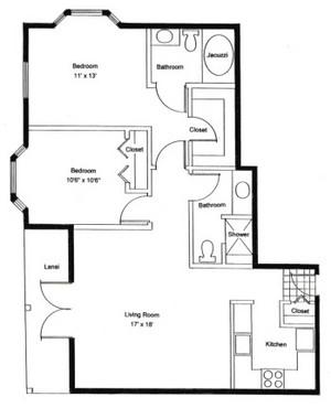 Homestead Village of Fairhope garden apartment floor plan