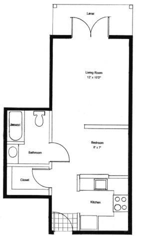 Homestead Village of Fairhope garden apartment 565 floor plan