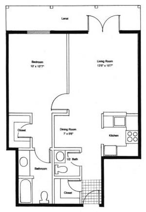 Homestead Village of Fairhope garden apartment 862 floor plan