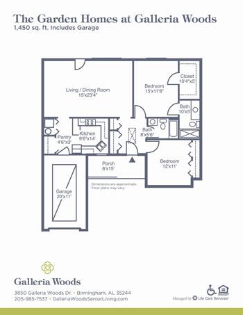Galleria Woods garden homes floor plan