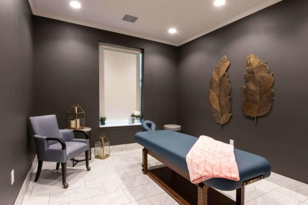 Massage room at Pathway Heartis Village North Shore with massage table and soothing decor