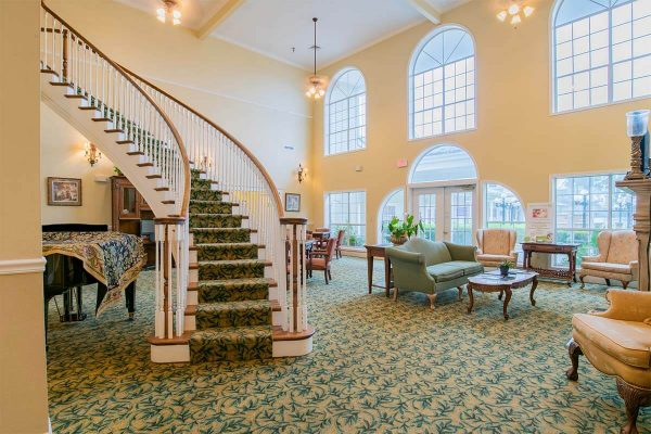 Homestead Village of Fairhope lobby and grand staircase