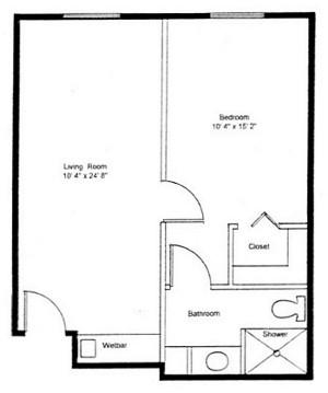 Homestead Village of Fairhope huntingdon small suite floor plan