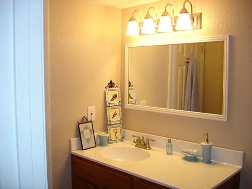Bathroom vanity in a residence in Senior Villages