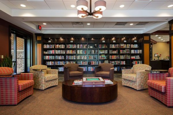 Danberry At Inverness community library and overstuffed chairs