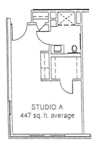 LiveOak Village studio A floor plan