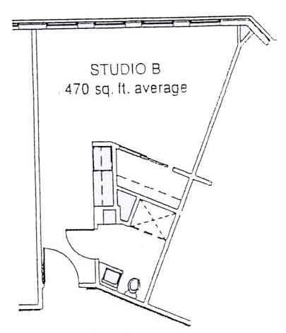 LiveOak Village studio B floor plan