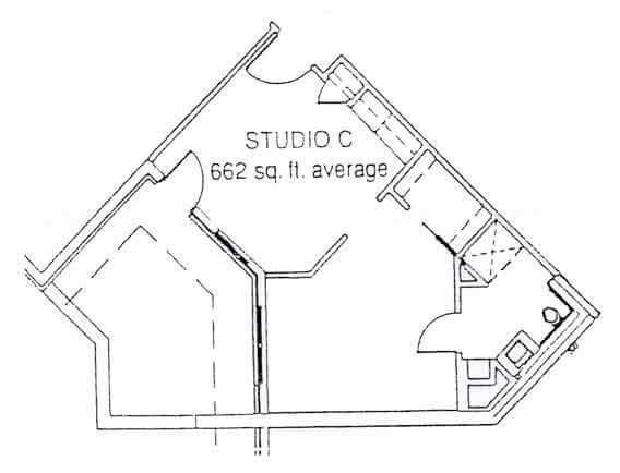 LiveOak Village studio C floor plan