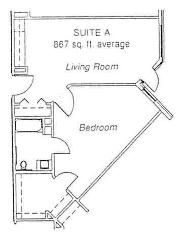 LiveOak Village suite A floor plan