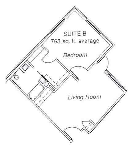 LiveOak Village suite B floor plan