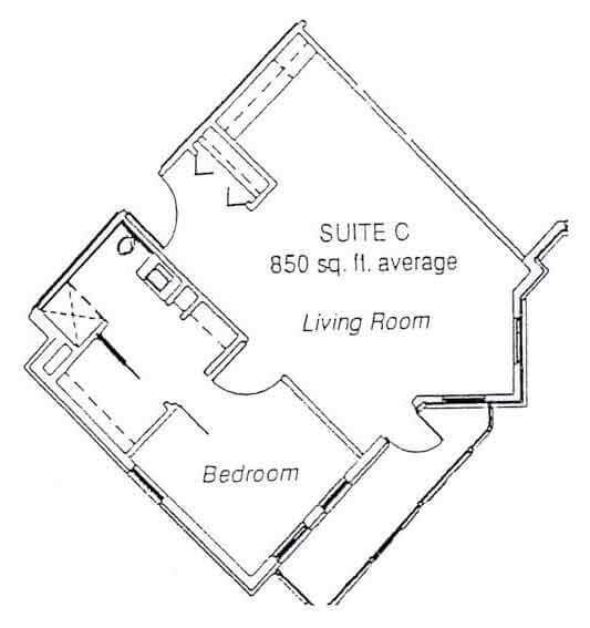 LiveOak Village suite C floor plan